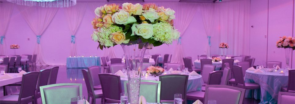 Wedding reception centerpiece at MEET Las Vegas